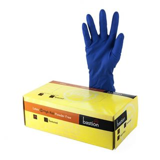 Bastion Latex Hi-Risk P/F Small Gloves - UniPak
