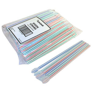 Spoon Straws plastic multicoloured - UniPak