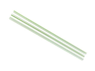 Straws PL 5mm Green Stripe - Vegware - Pack & Carton