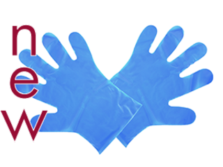 Food Prep Gloves Blue - Medium - Vegware - Pack or Carton