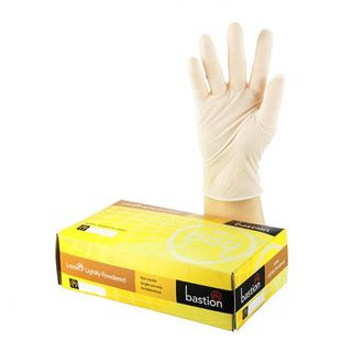 Bastion Latex Lightly Powdered Gloves - UniPak