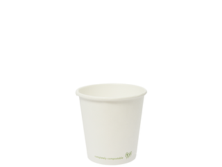Hot Cup PLA Lined 4oz 120ml white - Vegware