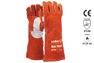 Welders Glove Red/Rust - Esko Hot Shot