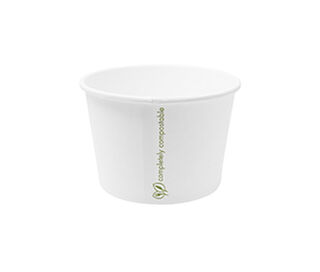 Hot Container White 16oz 560ml - Vegware - Pack or Carton