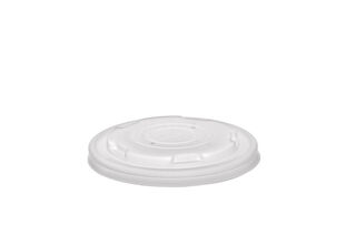 Hot Container Flat Lid 90mm (Fits 6-10oz) - Vegware - Pack or Carton