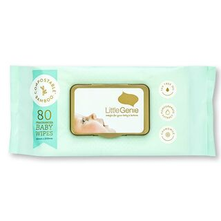 Compostable Baby Wipes Fragranced - Little Genie