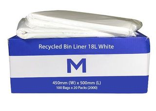 Office Bin Liner Small 18L White