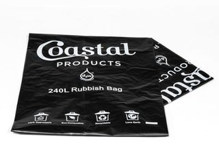 240L Oxo-Degradable Rubbish Bag - Coastal