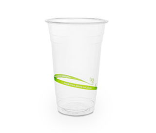 20oz 630ml standard PLA cold cup - Vegware - Pack & Carton