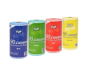 Tuf Calypso Food Service Wipes Roll - Yellow - Edco