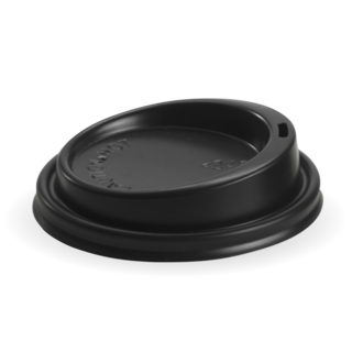 Hot Cup PS Lid Large (To Fit 6, 8, 10 &12oz) 90mm Black - BioPak