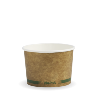Paper Bowl Hot/Cold Green Stripe 8oz - BioPak