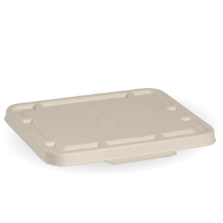 2 & 3 Compartment Natural BioCane Takeaway Lid - BioPak
