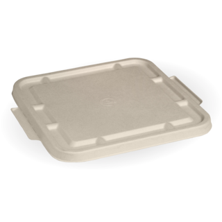 3-Compartment Natural Large BioCane Takeaway Lid - BioPak