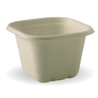 Takeaway Container Base & Lid Natural 630ml BioCane - BioPak - Pack 50
