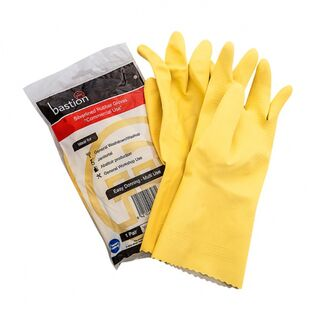 Bastion Silverline Yellow Small Gloves - UniPak