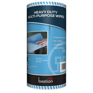Bastion Heavy Duty Wipes On A Roll - Blue - UniPak
