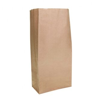 Brown Block Bottom Paper Bag No 3 Heavy Duty 185W x 380H (100mm gusset) - UniPak