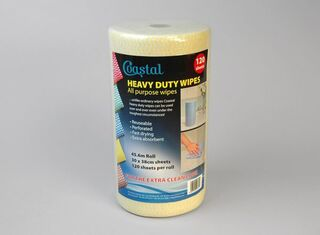 Cleaning Wipes Heavy Duty Yellow - Coastal