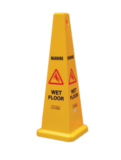 Blank Safety Cone - Yellow - 90cm - Glomesh