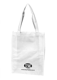 A4 Tote with Gusset White - Ecobags