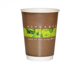 12oz Flora Double Wall Paper Hot Cup - Castaway
