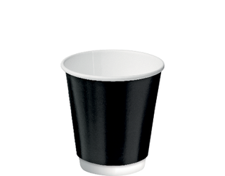 8oz Black Double Wall Paper Hot Cup - Castaway