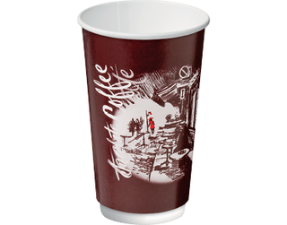 16oz Cafe Montmartre Double Wall Paper Hot Cup - Castaway