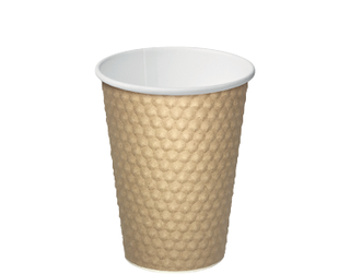 12oz Brown Dimple' Paper Hot Cup - Castaway