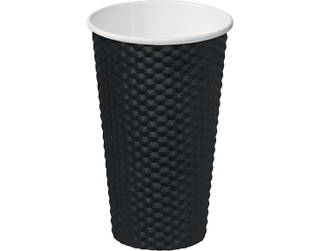 16oz Black Dimple' Paper Hot Cup - Castaway