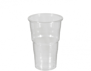 340ml Costwise' PP Cold Cup, Clear