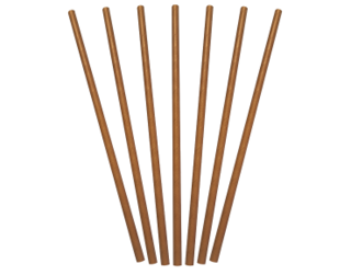 Paper Regular Straws, Brown Kraft (205 x 6 mm) - Castaway