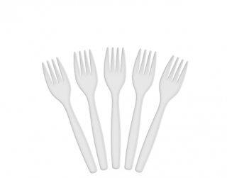 Costwise' Plastic Fork, White 150 mm - Castaway
