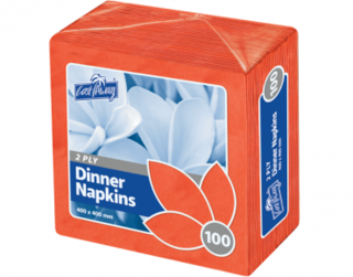 2 Ply Dinner Napkins, Quarter Fold, Red - Castaway