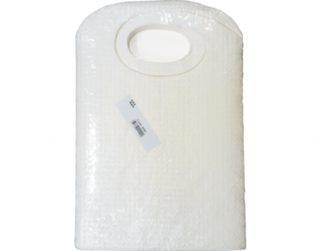 PrimeSource' Protective Bib with Ties, White - Castaway