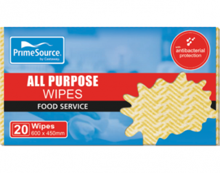 PrimeSource' All Purpose Wipes, Yellow - Castaway