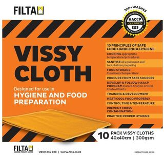 Microfibre Cloths Vissy Orange - Filta