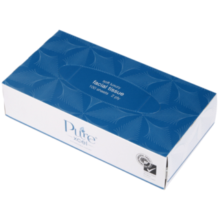 Tissues Facial 2ply, 100's - PureXcel