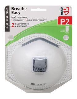 BREATHE EASY' P2 Respirator with Valve 2 Pack - Esko