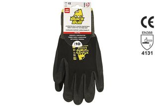 BLACK BULL' Black Heavy Duty Sandy Nitrile, Header Carded - Esko