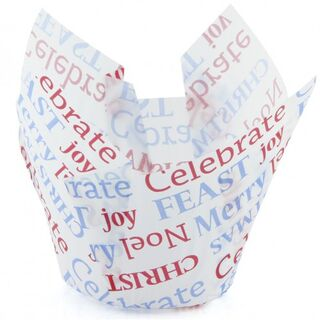 Texas Muffin Wrap - Celebrate Christmas (250 ctn) - Confoil