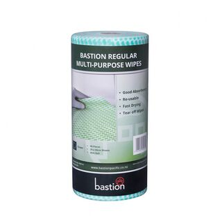 Bastion Regular Duty Wipes On A Roll - Green - UniPak