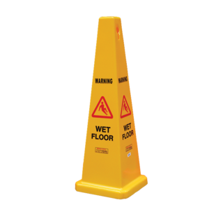 Gala Safety Cone - Wet Floor Yellow 900mm
