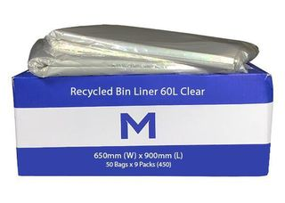 FP Recycled Bin Liner 60L Clear - Matthews