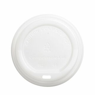 Lid for Hot Cup Compostable 12oz & 16oz 90mm - Ecoware