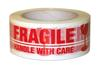 Message Tape - FRAGILE Red on White