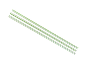Straws PL 5mm Green Stripe - Vegware