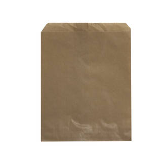 Flat Brown Paper Bags - 305x360 - No.10 - UniPak