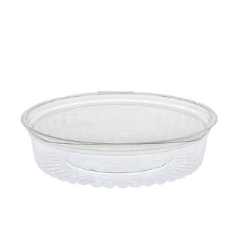 Sho-Bowl 550ml/20oz Flat Lid - Unipak