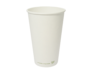 Hot Cup PLA Lined 16oz 520ml white - Vegware